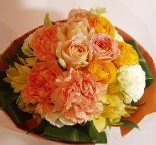 他の写真1: ブーケタイプ花束-オレンジミルフィーユ