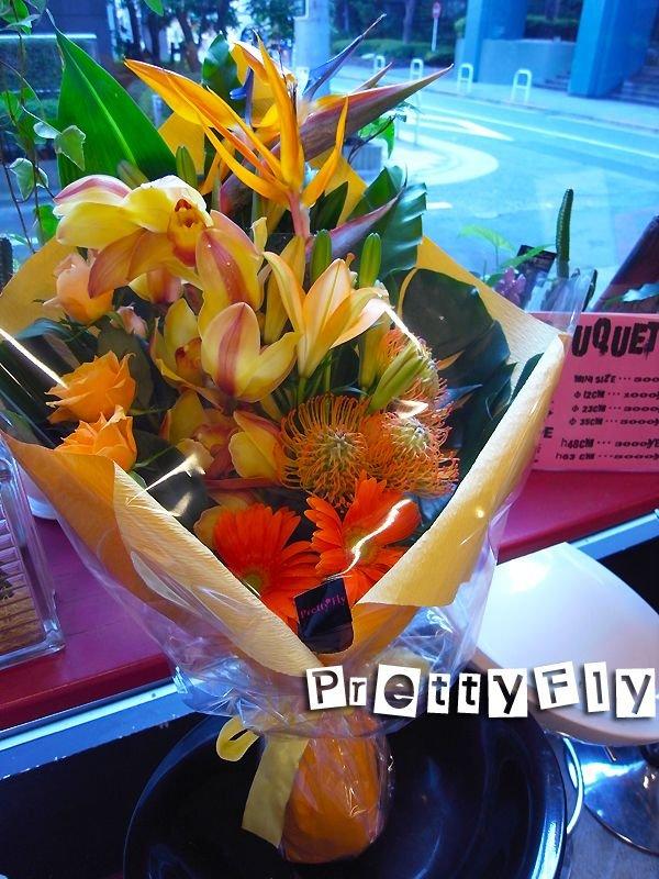 画像2: 【ロングタイプ花束】トロピカルオレンジブーケ70