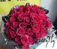 画像2: バラギフト -深紅のバラ30本 '' True Love ブーケ30 '' (2)