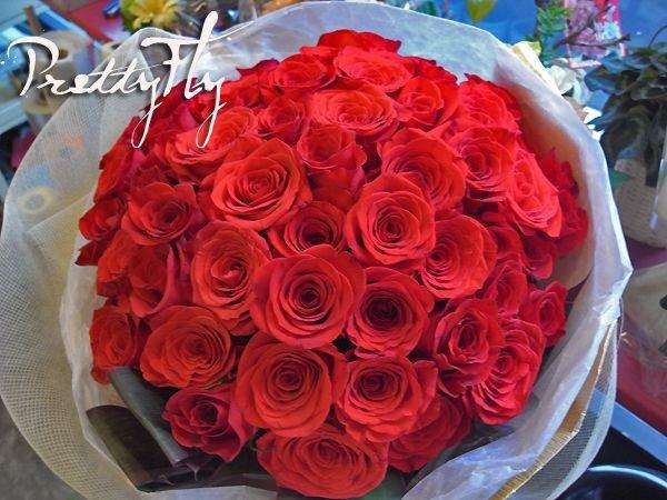 画像2: 【大輪プレミアム】赤いバラのブーケ-1本500円(お好きな本数でお作りします)