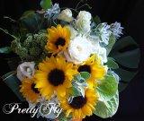 ブーケタイプ花束-ヒマワリの花束70