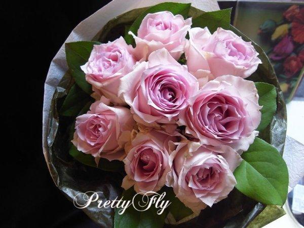 画像1: 【一種の花で束ねるシンプルブーケ】OnlyPinkRose〜ピンクのバラ花束