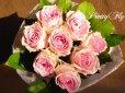 画像2: 【一種の花で束ねるシンプルブーケ】OnlyPinkRose〜ピンクのバラ花束 (2)