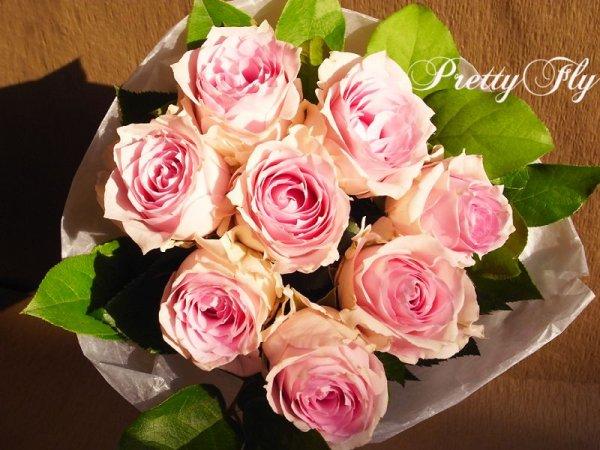 画像2: 【一種の花で束ねるシンプルブーケ】OnlyPinkRose〜ピンクのバラ花束