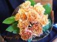 画像1: 【一種の花で束ねるシンプルブーケ】OnlyOrangeRose〜バラ オレンジの花束 (1)
