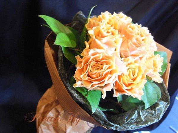 画像3: 【一種の花で束ねるシンプルブーケ】OnlyOrangeRose〜バラ オレンジの花束