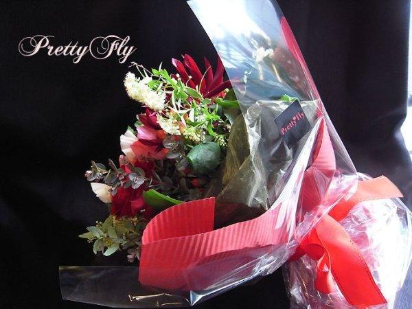 画像3: ブーケタイプ花束-スプリングレッド