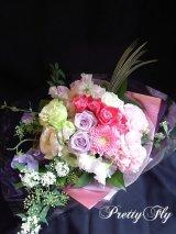 ブーケタイプ花束-ヒオリピンク60