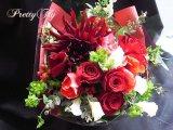 ブーケタイプ花束-スプリングレッド