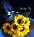 画像3: 【一種の花で束ねるシンプルブーケ】OnlySunflower〜ひまわりの花束 (3)