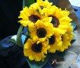画像4: 【一種の花で束ねるシンプルブーケ】OnlySunflower〜ひまわりの花束 (4)