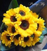 【一種の花で束ねるシンプルブーケ】OnlySunflower〜ひまわりの花束