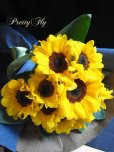 画像2: 【一種の花で束ねるシンプルブーケ】OnlySunflower〜ひまわりの花束 (2)