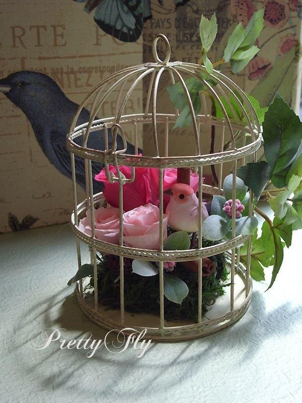 画像1: プリザーブドフラワー【バードガーデン★BirdGarden】ピンク