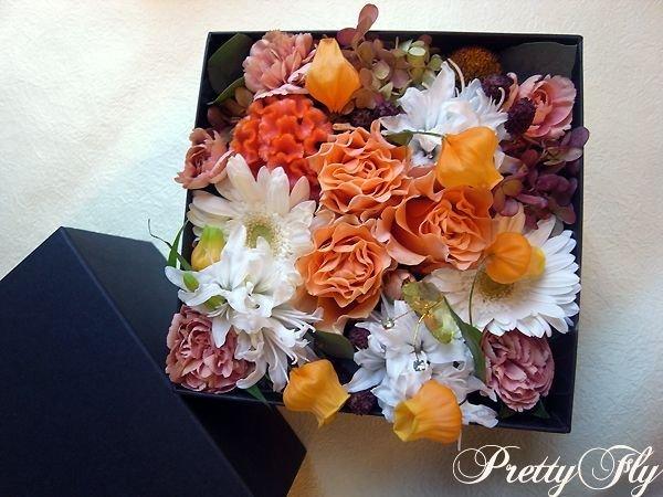 画像5: ボックスフラワーアレンジメント-イエローとグリーンのお花MIX*おまかせBOX