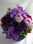 画像5: 【アレンジメント】紫のバラ&バンダアレンジメント〜NoblePurple(ノーブルパープル)-DX60 (5)