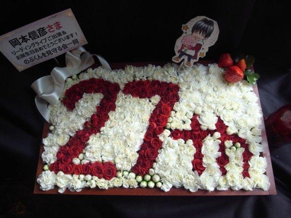 画像2: 【特注オーダーメイド】ボックスフラワー周年記念ボックス〜(数字1〜2文字まで+th)宅配便不可