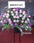 画像3: 紫のバラスタンド花-バラ30本スタンド花〜パープルローズ (3)