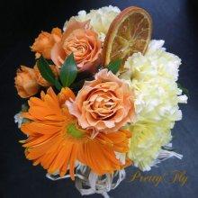 他の写真3: 【Forestシリーズ2015 花】アレンジメント【オレンジ】Sサイズ