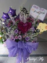 幕張メッセスタンド花〜星×ハートスタンド花