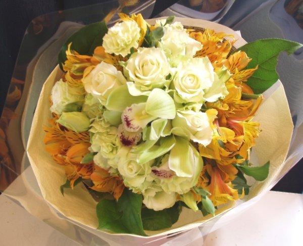 画像1: ブーケタイプ花束-エナメルレモン70