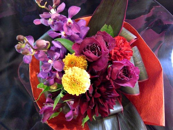 画像1: ブーケタイプ花束-アメジスト40
