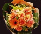 ブーケタイプ花束-リッチーオレンジ50