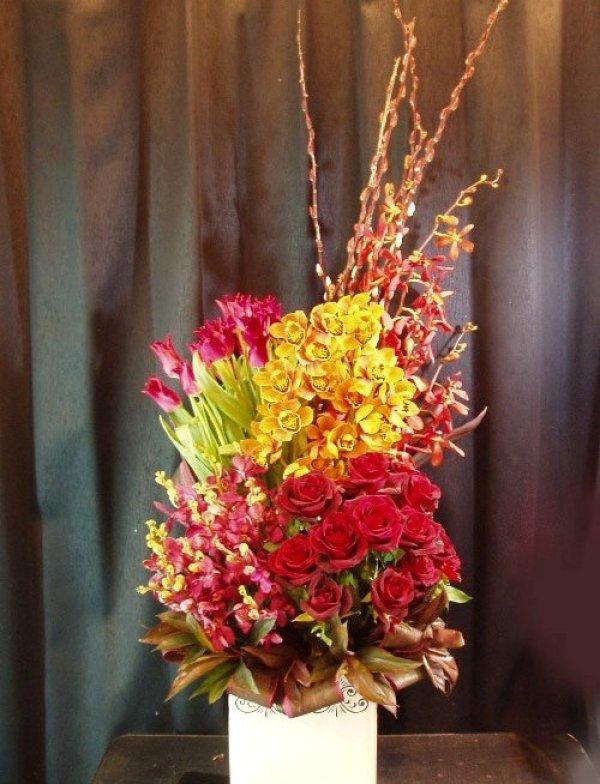 画像1: お祝いアレンジ-Orchid200
