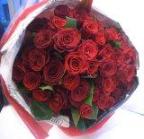 【大輪プレミアム】赤いバラのブーケ-1本500円(お好きな本数でお作りします)