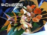 【ロングタイプ花束】トロピカルオレンジブーケ70