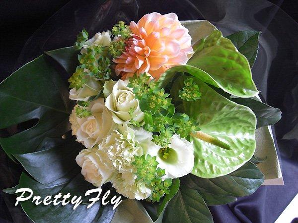 画像1: 【ブーケタイプ花束】Greenフラブーケ