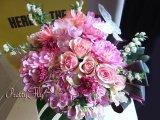 ビッグブーケ(花束)-バタフライビッグブーケ〜季節のお花(Pinkバージョン)