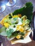 画像2: ビッグブーケ(花束)-ビッグブーケ〜季節のお花(グリーンイエローバージョン) (2)