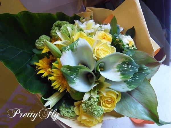 画像3: ビッグブーケ(花束)-ビッグブーケ〜季節のお花(グリーンイエローバージョン)