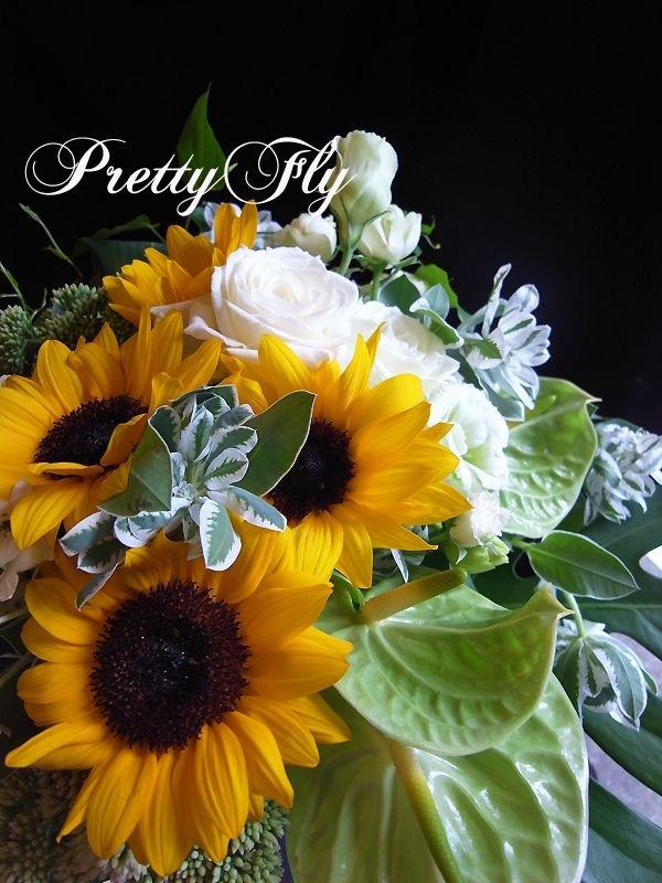 画像2: ブーケタイプ花束-ヒマワリの花束70
