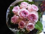 【一種の花で束ねるシンプルブーケ】OnlyPinkRose〜ピンクのバラ花束