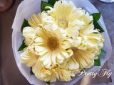 【一種の花で束ねるシンプルブーケ】OnlyGerbera〜ガーベラ パスタの花束