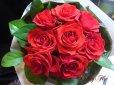 画像1: 【一種の花で束ねるシンプルブーケ】OnlyRedRose〜赤いバラ花束 (1)
