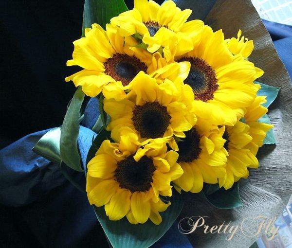 画像4: 【一種の花で束ねるシンプルブーケ】OnlySunflower〜ひまわりの花束