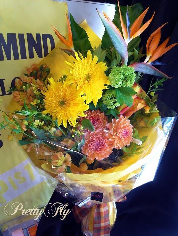 画像2: ロングタイプ花束-ストレチア極楽花◆おまかせオレンジ〜イエロー