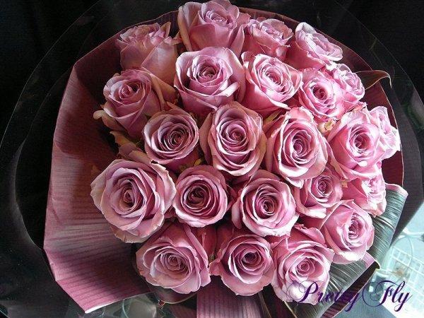 画像1: バラのプレゼント -紫色のバラ30本 '' PurpleROSE30 ''