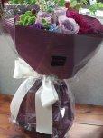 画像5: 【紫の花束】紫のバラ&ダリアの花束nobleーPurple(ノーブルパープル) (5)