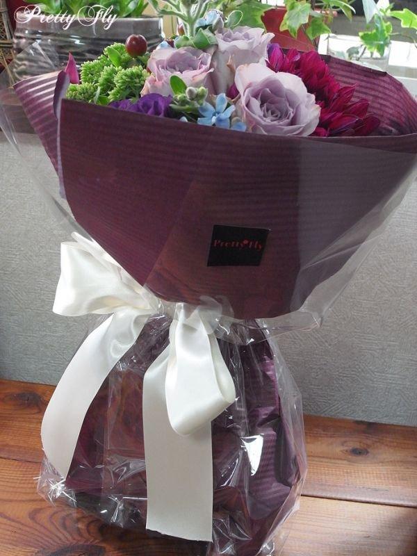 画像5: 【紫の花束】紫のバラ&ダリアの花束nobleーPurple(ノーブルパープル)