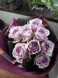 画像2: 【紫のバラ花束】パープルROSE '' PurpleROSE8 '' (2)