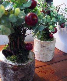他の写真1: 【ドライフラワー&造花】リンゴの木(グリーンリーフ)