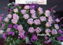 他の写真2: 紫のバラスタンド花-バラ30本スタンド花〜パープルローズ