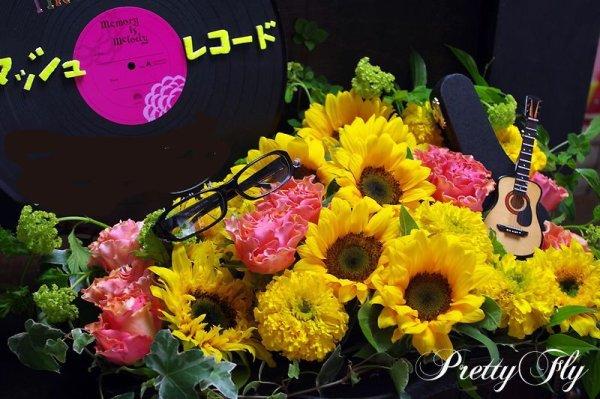 画像2: イベント用オーダー楽屋花〜カバンにひまわりアレンジ