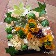 画像4: 【ボックスフラワーSサイズ】-Succulent多肉&Flower花 オレンジ (4)