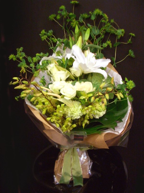 画像1: ロングタイプ花束 贈呈用-W50