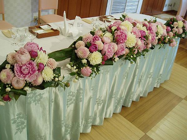 結婚式会場装花 フルオーダー会場一式 5月挙式 アジアンテイスト Prettyfly